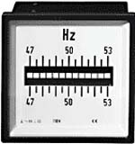 Square switch panel meters compliant with DIN 43700